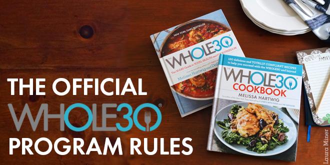 Whole30 Program Rules header