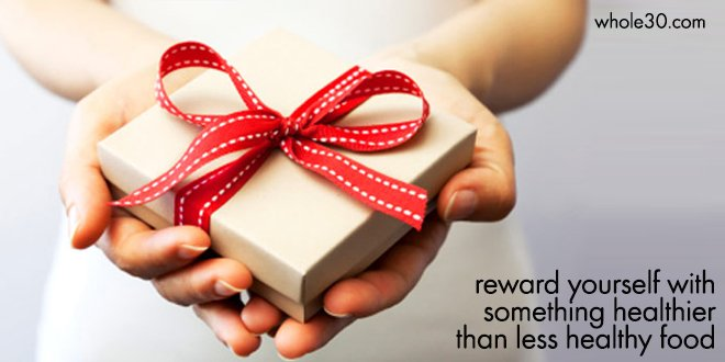 Reward yourself with something healthier than less healthy food