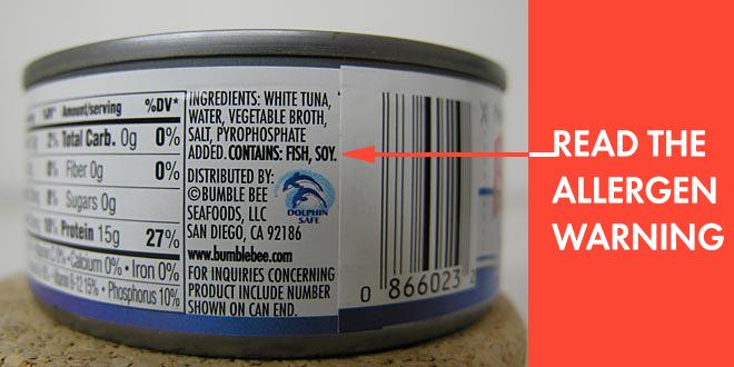 Tuna fish can label - photo#23