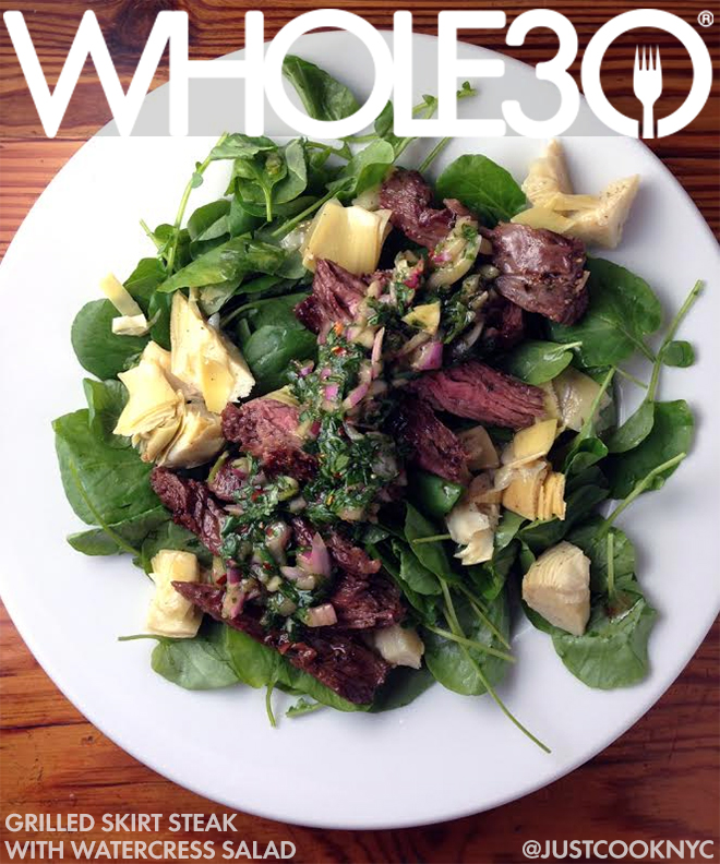 Whole30 Recipes: Grilled Skirt Steak with Watercress Salad | The ...
