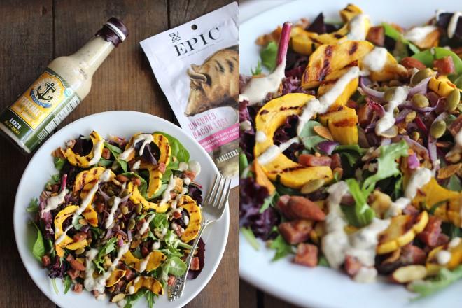 JanuaryWhole30 Epic Winter Salad Delicata Squash Image
