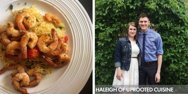 Uprooted Cuisine Shrimp Scampi