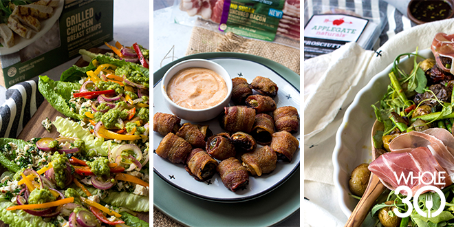 Whole30 Bacon Wrapped Brussels Sprouts and two more Whole30 Appetizer Recipes