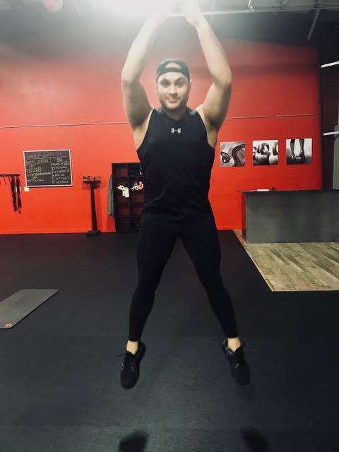 Aaron jumping
