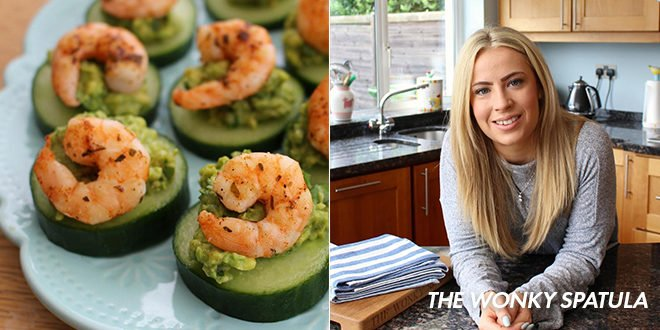 Whole30 Memorial Day Recipe for Shrimp and Avoado Stackers from The Wonky Spatula
