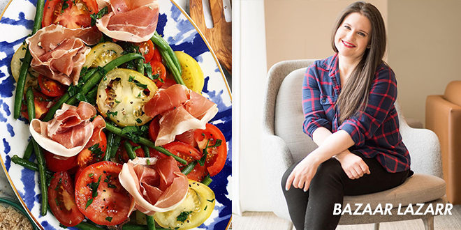 Whole30 Memorial Day Recipe for Tomato and Green Bean Salad from Bazaar Lazarr