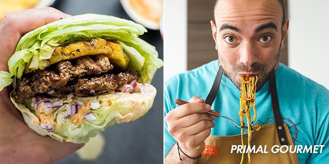 Smashed Pineapple Burger from Primal Gourmet