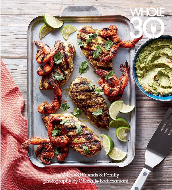 Grilled Cilantro Chicken & Shrimp from The Whole30 Friends & Family