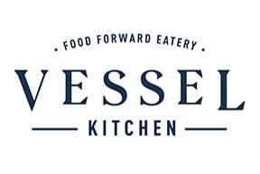Vessel Kitchen navy blue logo