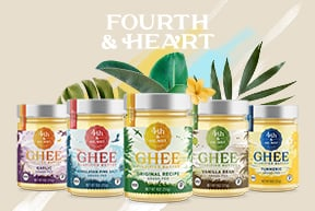 Assortment of Fourth & Heart ghee products