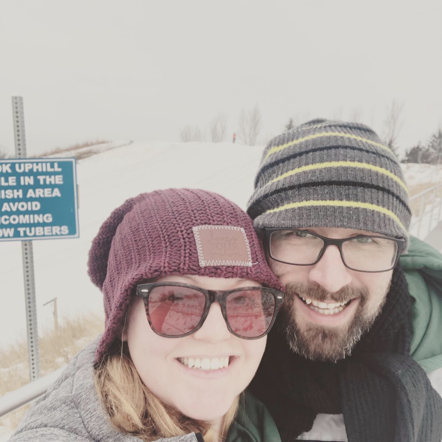 Abby and Chad Wildeboer selfie on a hiking trail