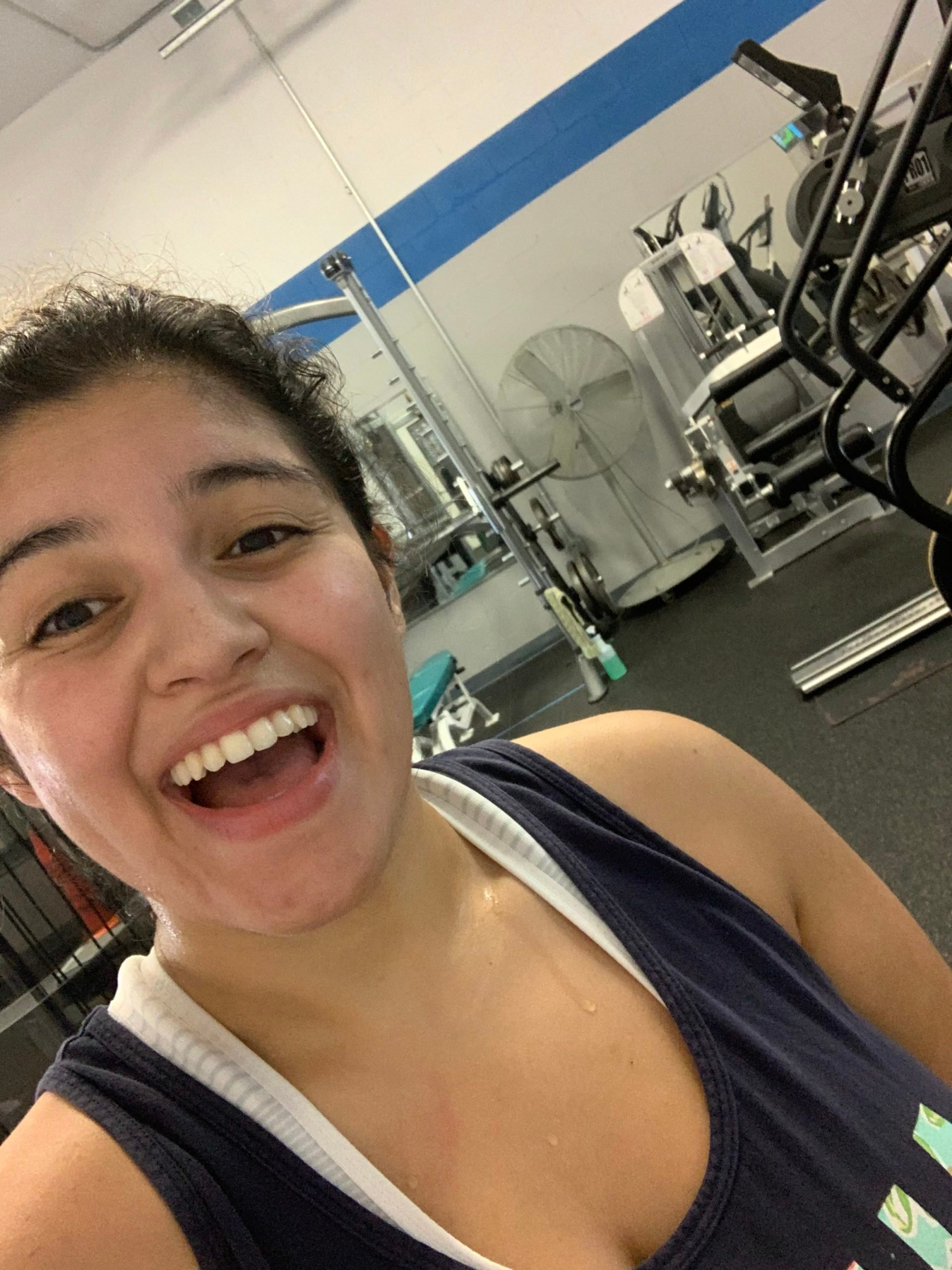 Paulina Chavez in a gym