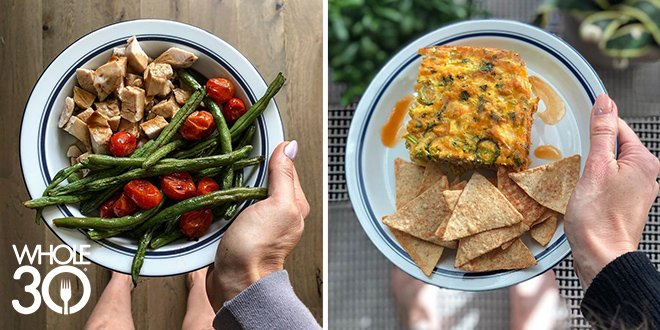 How Melissa Urban Eats - plate of Whole30 and Food Freedom foods
