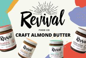 revival almond butter logo