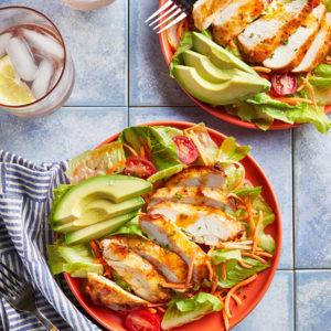 Buffalo Vinaigrette Whole30 Buffalo Chicken Salad SQUARE