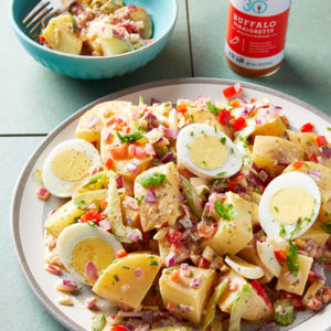 Buffalo Vinaigrette Whole30 Buffalo Potato Salad SQUARE