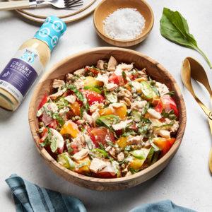 Creamy Balsamic Whole30 Tomato Tonato Salad SQUARE