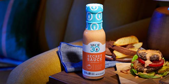 Secret Sauce Whole30 Two Patty Burger HERO