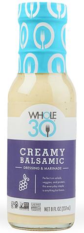 Whole30 Creamy Balsamic Product Shot Lander