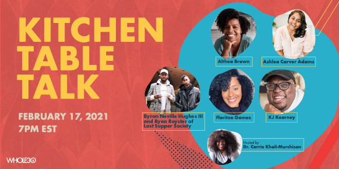 Whole30 Community Cares Event: Kitchen Table Talk