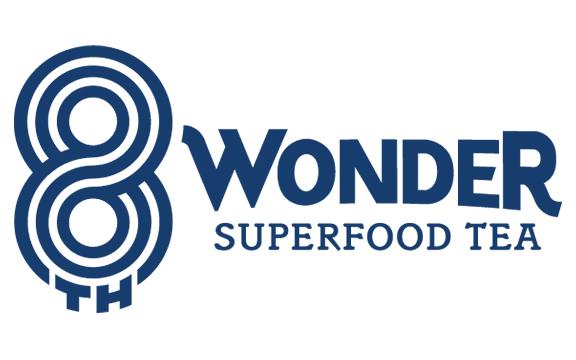 8th Wonder Superfood Tea Logo in Blue