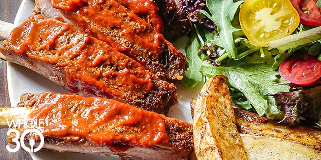 Whole30 St.Louis Ribs and Potato Wedges